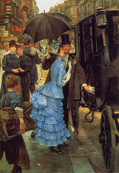 A Dama de Honra - As principais pinturas de James Tissot ~ Francês