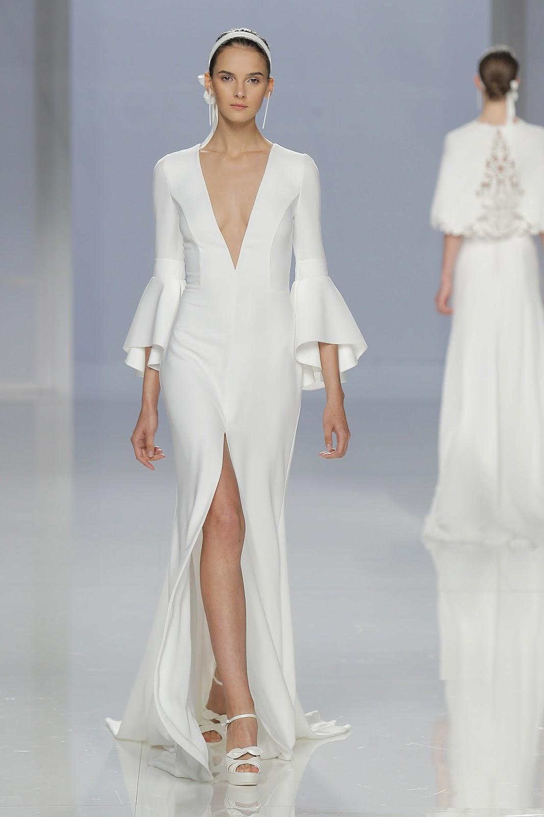 vestido de noiva com manga flare