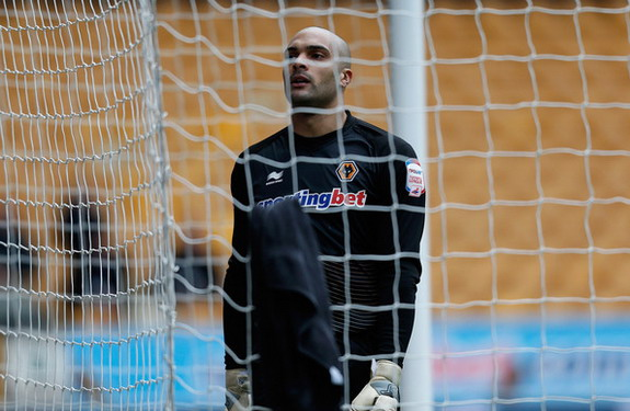 Wolves goalkeeper Carl Ikeme reacts after conceding a bizarre own goal to Bristol City