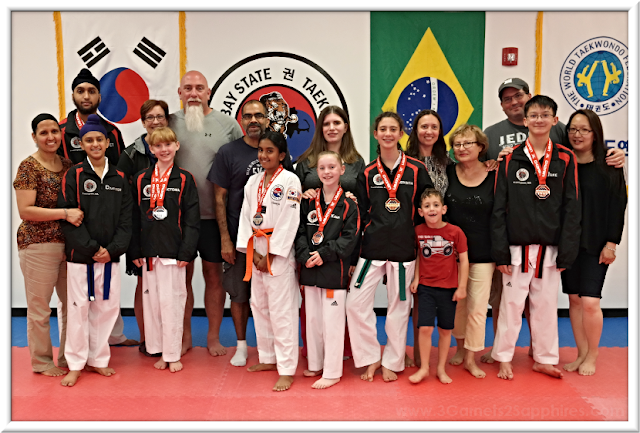 Baystate Taekwondo Academy 2018 USA Taekwondo National Championships Competitors and Parents | 3 Garnets & 2 Sapphires