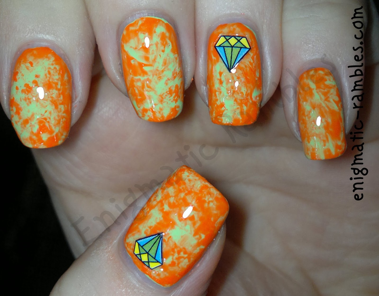 Review-Born-Pretty-Store-Stickers-XF471-marble-diamond-nails