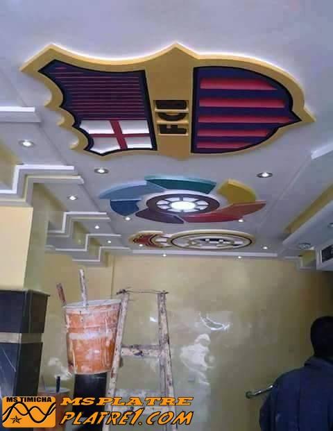Faux plafond en plâtre pour café