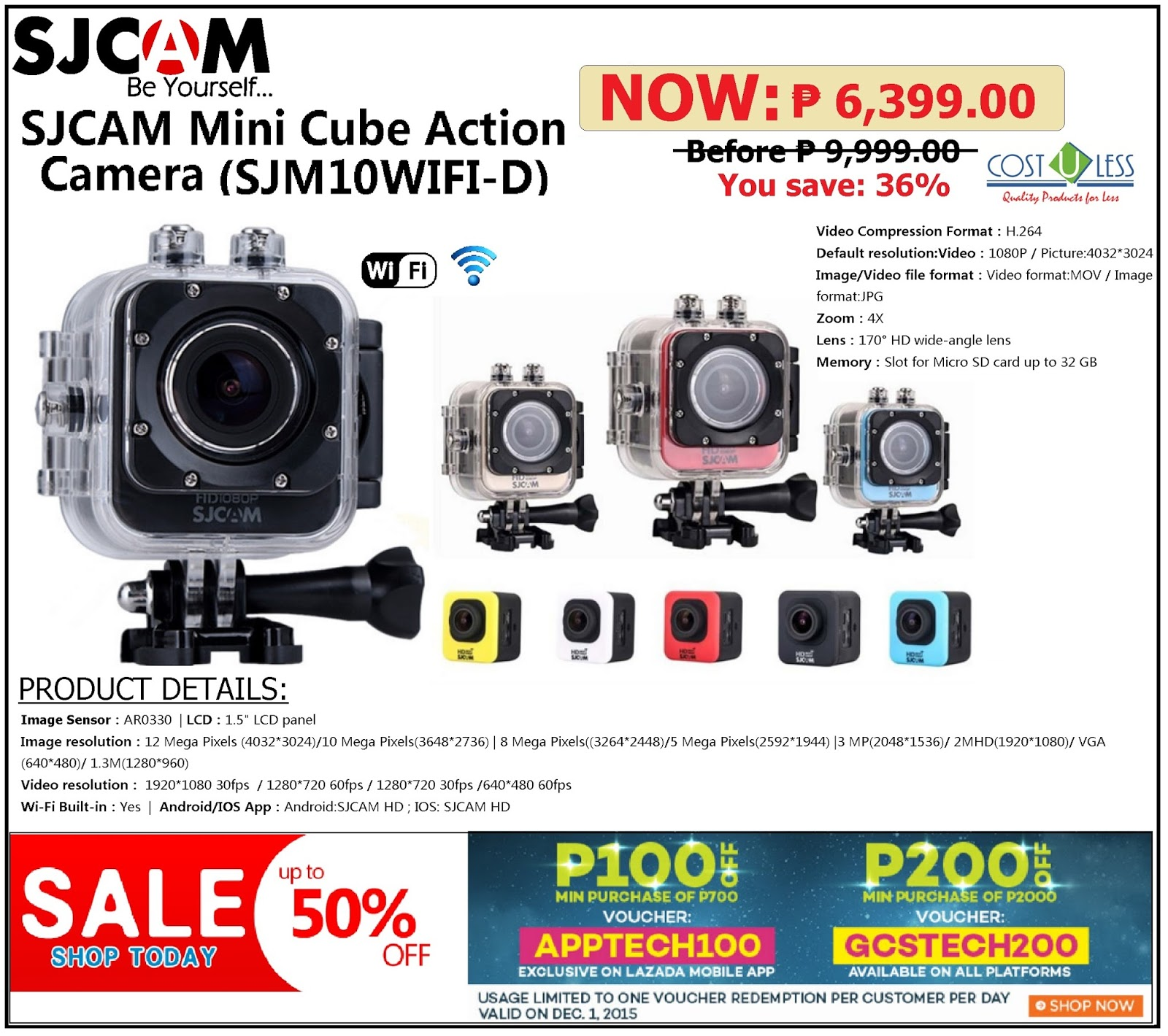 Save 100 Up To 200 Off On Sjcam Sjm10wifi D Mini Cube Camera At Lazada S Grand Christmas