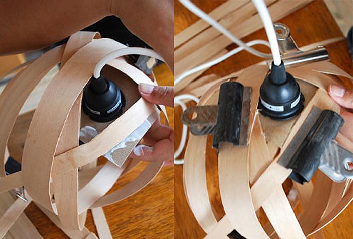 DIY Lampu Rumah Dari Anyaman Kayu - Step 9