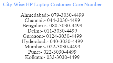 hp laptop customer sewrvice no