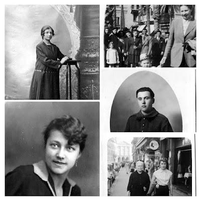 Album photos noir et blanc Portraits.