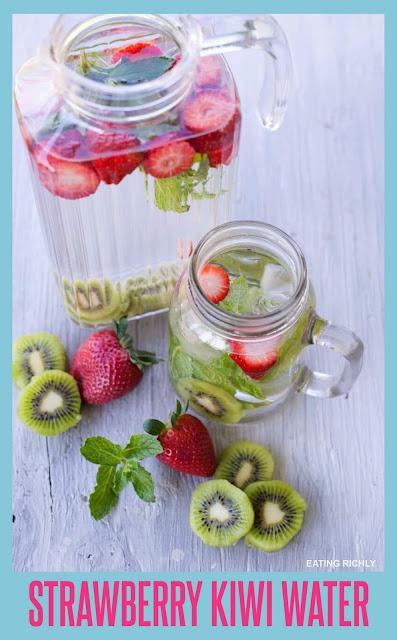 Strawberry Kiwi Detox Water.