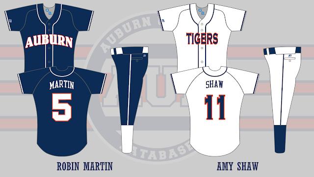 auburn softball uniform 2006
