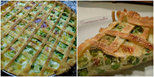 Tarta De Arvejas Light 275 Kcal Por Porción (o No Light, Las Dos Versiones)
