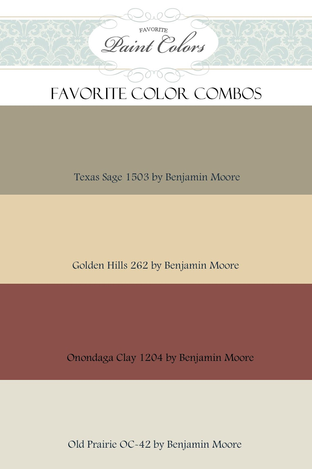 Benjamin Moore Color Combination Favorite Paint Colors Blog