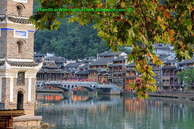 Pagoda, Riverside, Phoenix Fenghuang County, Hunan, China