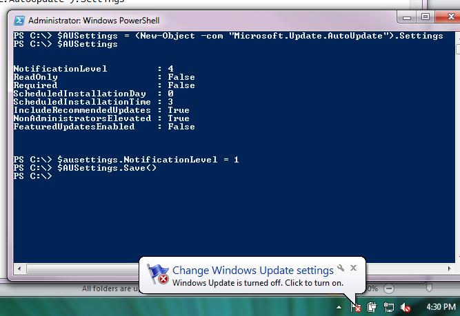 Ben Morris: PowerShell - Enable \ Disable Automatic Updates