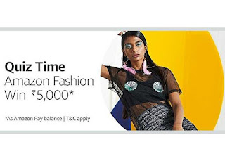 ALL ANSWER OF AMAZON INTERNATIONAL FASHION QUIZ CONTEST