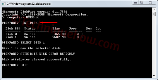 Write-protected dos 1