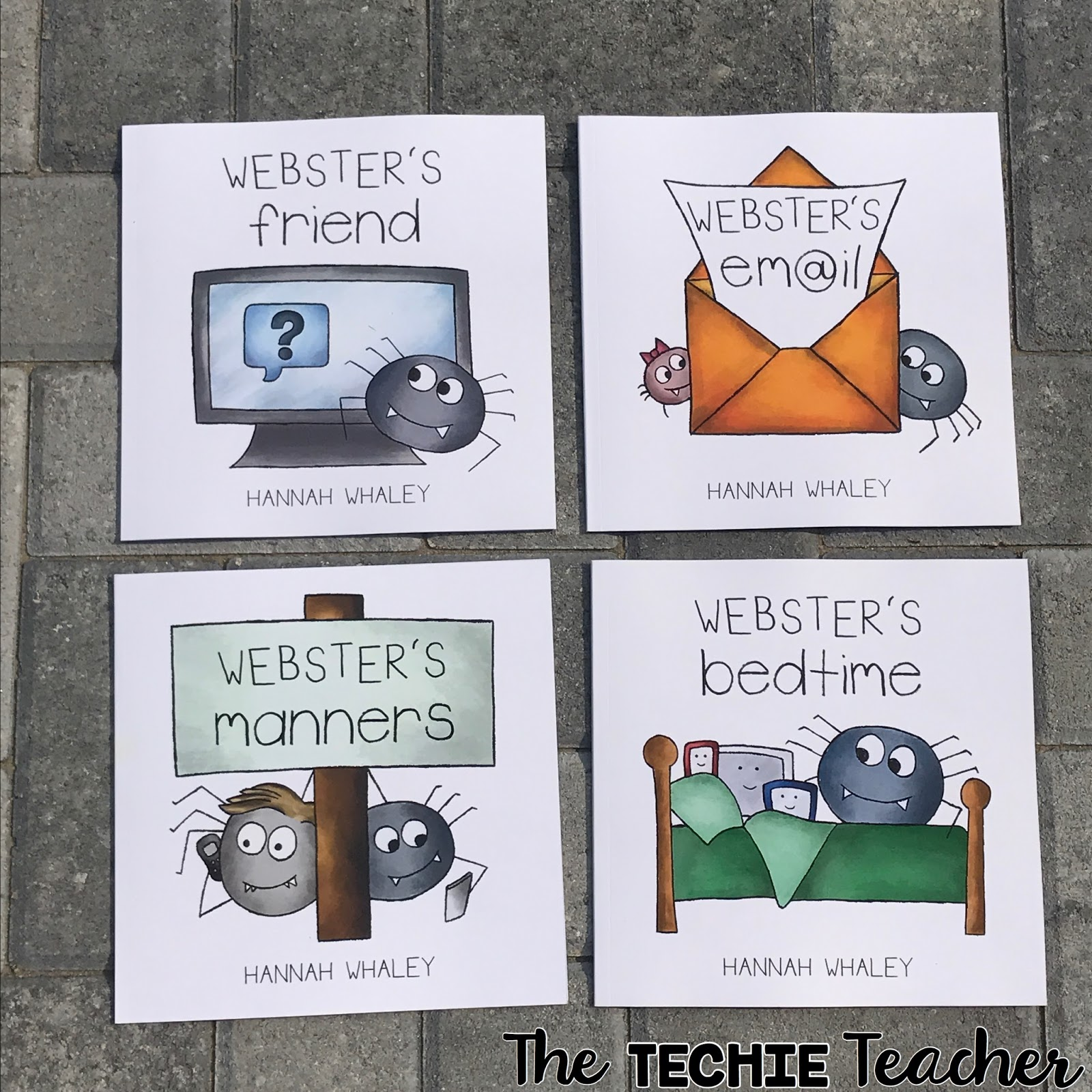 Webster's Friend, Webster's Email, Webster's Manners and Webster's Bedtime are the cutest collection to teach children about digital issues. Makes great read alouds for digital citizenship lessons!