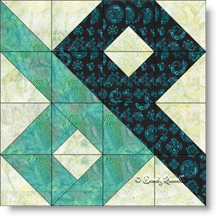Chinese Puzzle quilt block image © Wendy Russell