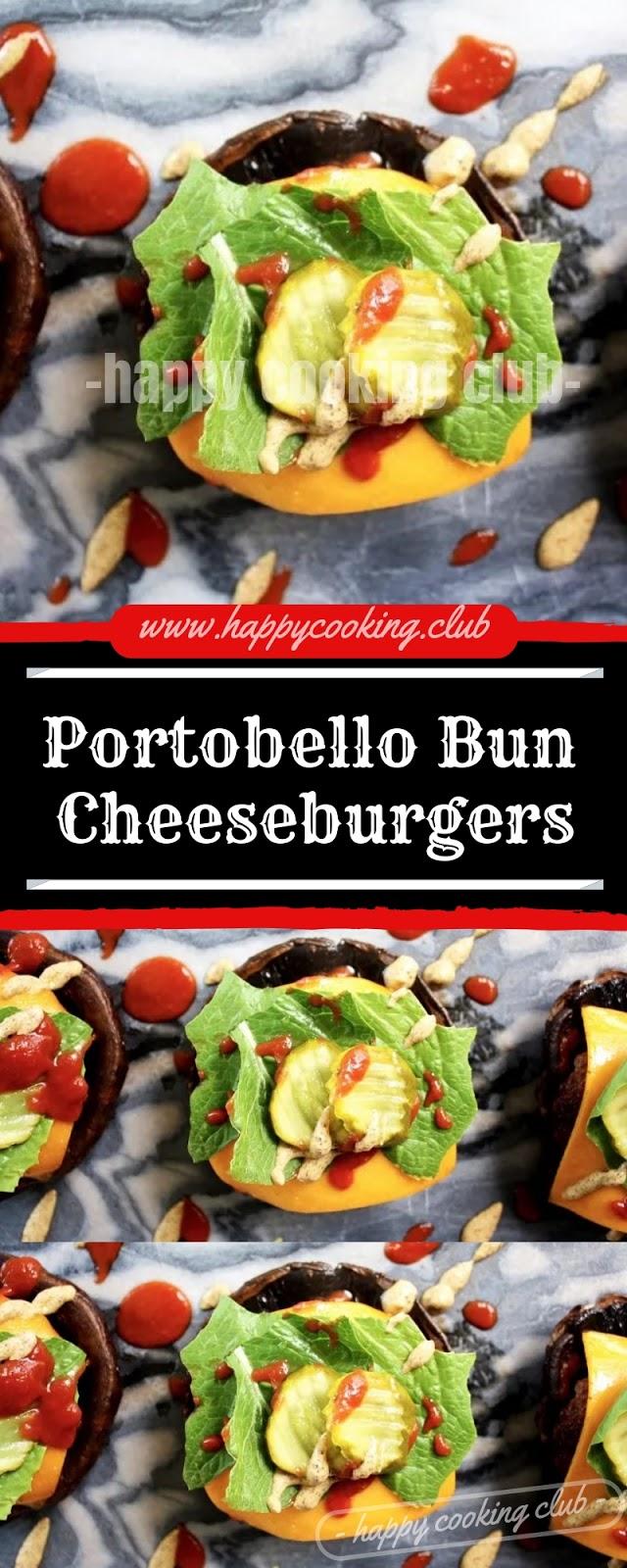 Portobello Bun Cheeseburgers