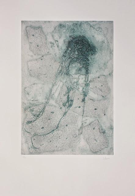 Textura abisal II, collagraph realizado por Indra Ruiz - Yoviendo Árboles