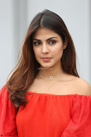 Rhea Chakraborty in Red Crop Top and Denim Shorts Spicy Pics ~  Exclusive 318.JPG