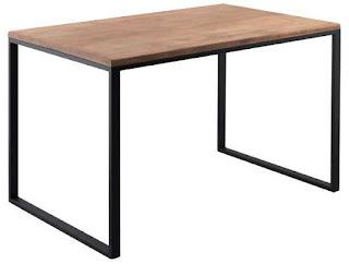 mesa de forja y madera actual diferentes colores