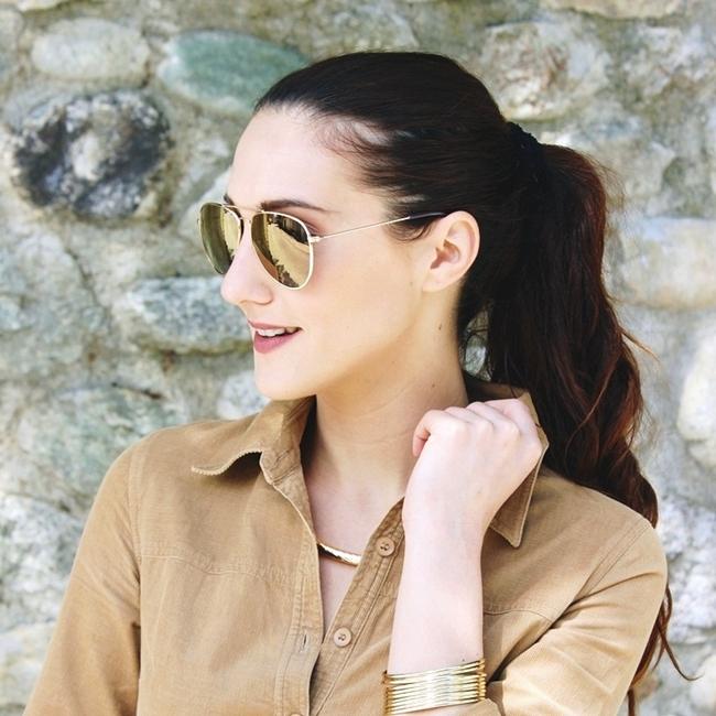 Jelena Zivanovic Instagram @lelazivanovic.Glam fab week.H&M gold mirrored sunglasses and gold cuff.H&M zlatne naocare za sunce.