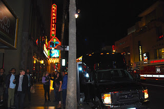 Party bus at Hollywood & Highland Center in Los Angeles