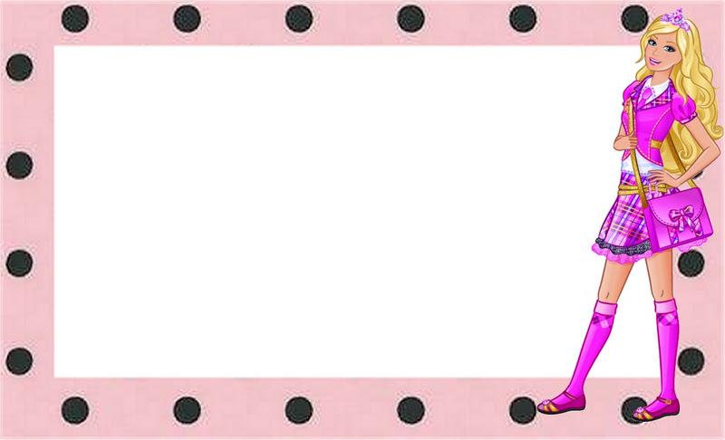 Invitaciones para imprimir gratis de Barbie Escuela de Princesas ...