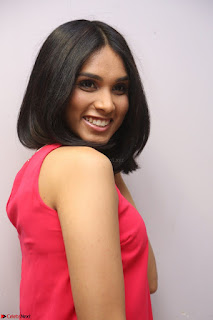Spatika Surapaneni in Red Tight Dress at FBB Miss India 2017 finalists at Telangana auditions Feb 2017 (41).JPG