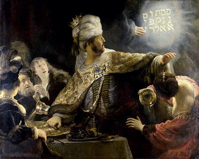 Belshazzar's Feast, by Rembrandt, 1635