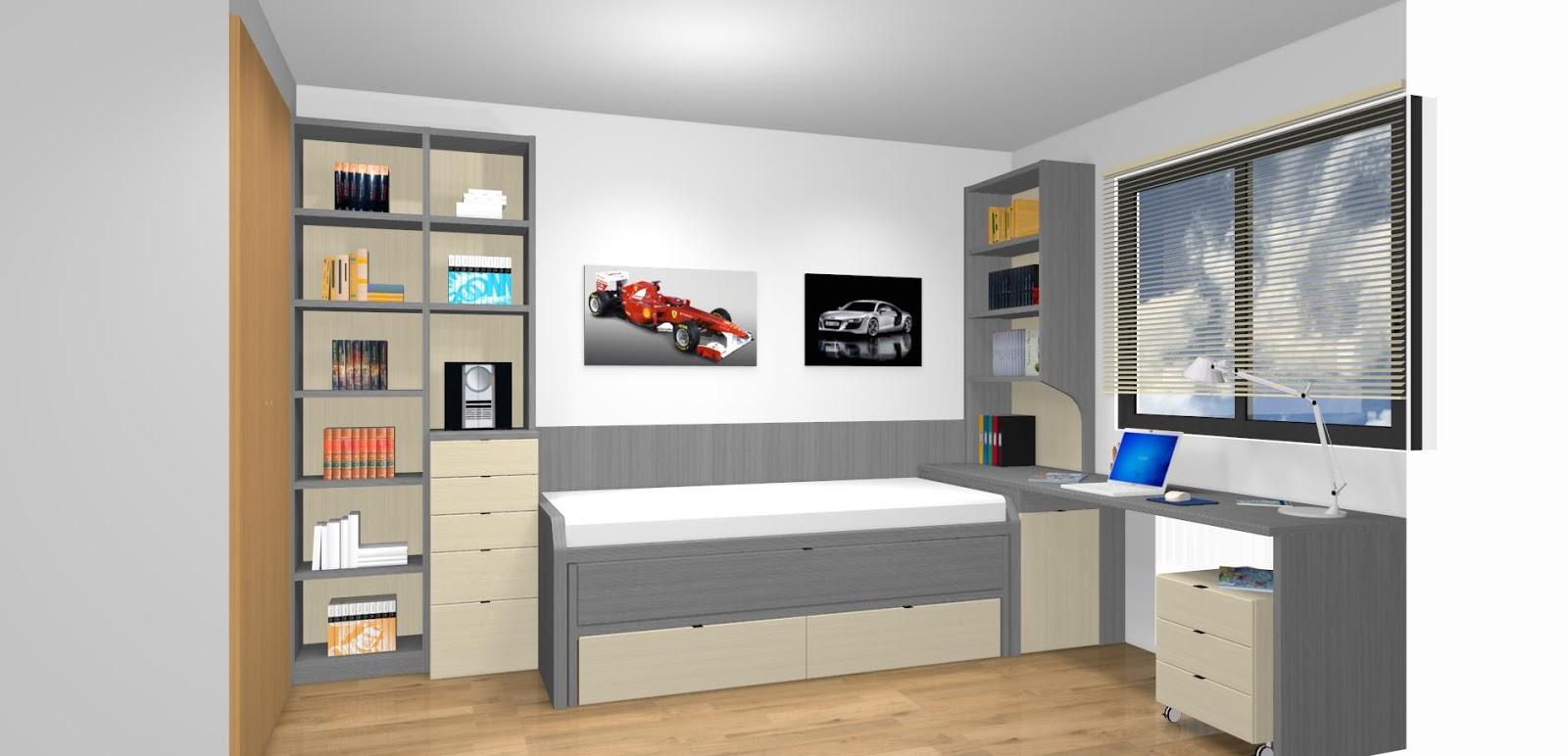 Dormitorios juveniles a medida con cama compacto - Mueble infantil madrid ...