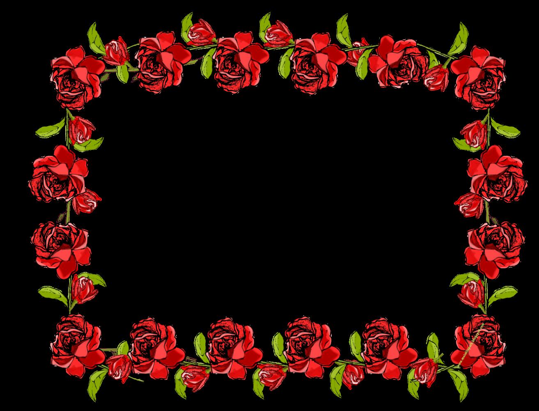 Rose Petals Falling Wallpaper Transparent Gif Free Faux Vintage Rose Frame Border Png With Transparent