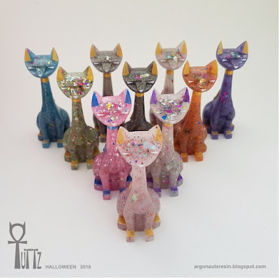 Halloween Glow in the Dark Tuttz Mini & Sphinx Resin Figures by Argonaut Resins