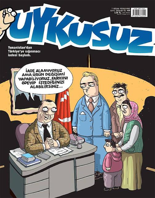 Uykusuz Dergisi - 7 Nisan 2016 Kapak Karikatürü