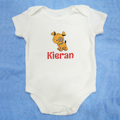 Baby Romper with doggie and name