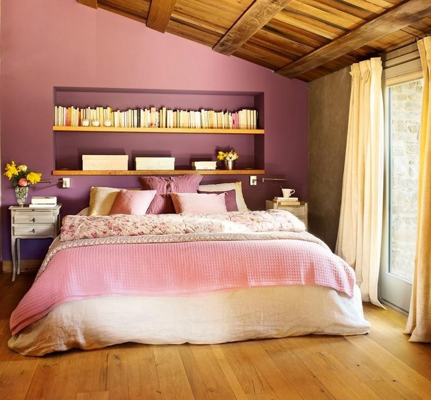 Hiszpański dworek z kamiennymi ścianami, wystrój wnętrz, wnętrza, urządzanie domu, dekoracje wnętrz, aranżacja wnętrz, inspiracje wnętrz,interior design , dom i wnętrze, aranżacja mieszkania, modne wnętrza, styl klasyczny, styl rustykalny, styl francuski, fioletowa sypialnia