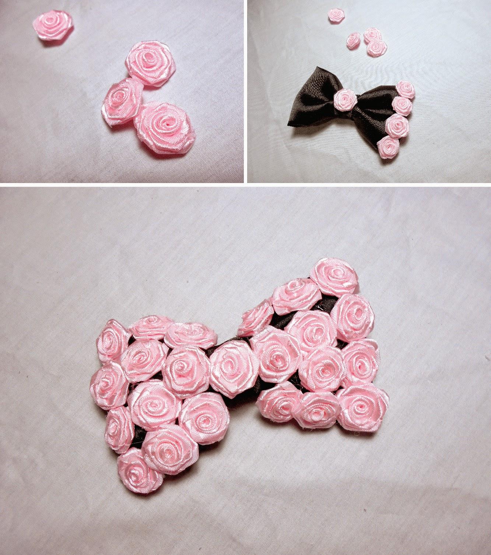 DIY hair bows - rose bow tutorial