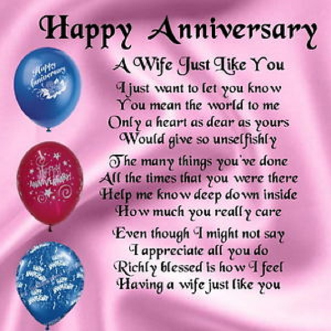 Happy wedding anniversary images and quotes to wife