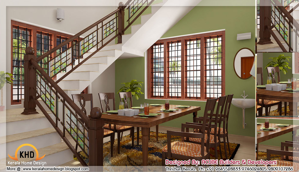 3d home interior designs in kerala kerala home design for House dining hall design