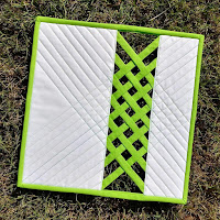Quilting Outside the Box Open Weave Mini Quilt