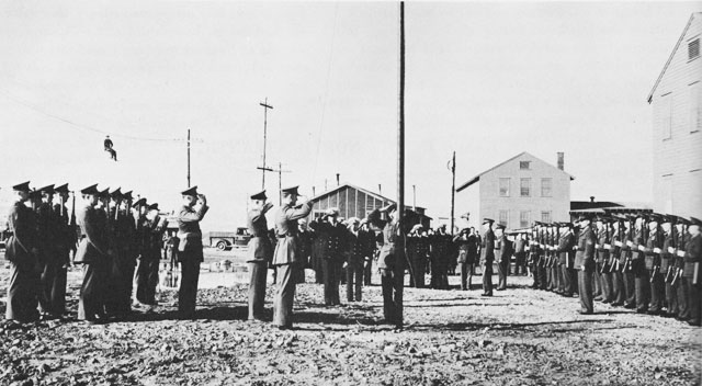Commissioning Ceremony, NAS Argentia, 15 July 1941 worldwartwo.filminspector.com
