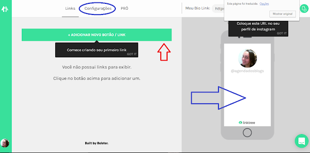 Como configurar no site Linktr.ee