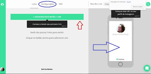 Como configurar no site Linktr.ee