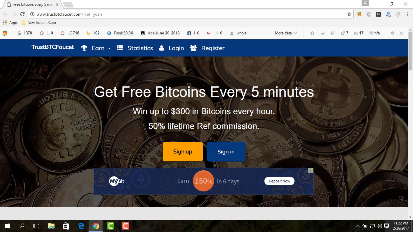 TrustBTCFaucet- Get Your Free Bitcoin Every 5 Minutes - BitcoinKing