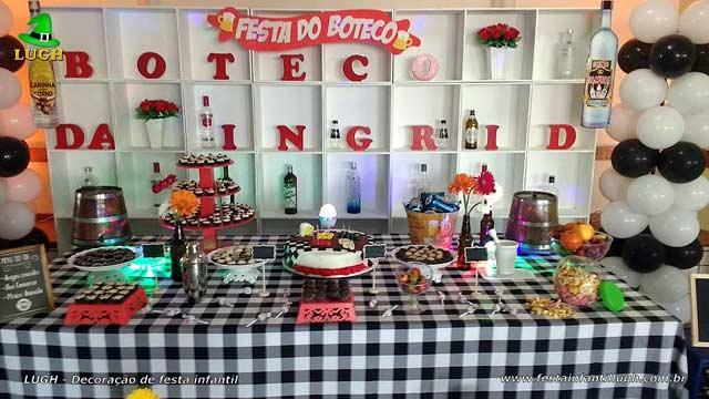 Decoração de mesa temática Boteco para festa de aniversário