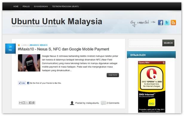 sistem operasi percuma ubuntu untuk malaysia