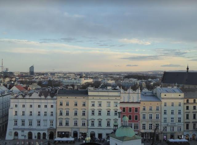 Panorama dalla torre del municipio di Cracovia