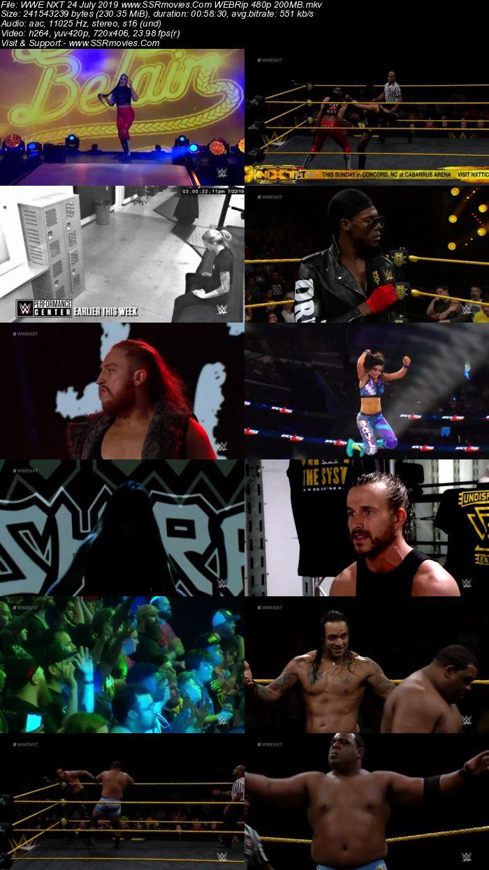WWE NXT 24 July 2019 HDTV Full Show Download 480p 720p HDTV WEBRip