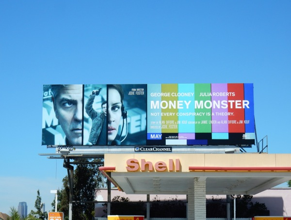 Money Monster film billboard