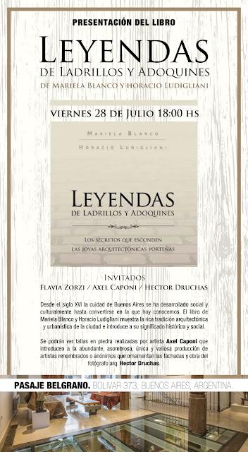 Mariela Blanco y Horacio Ludigliani presentan su libro en Pasaje Belgrano