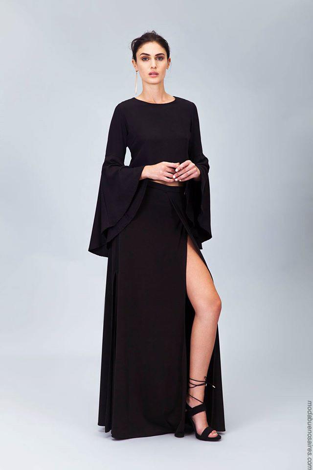 Moda 2017. Looks casual chic para el día y la noche invierno 2017 by Ceilonia. Vestidos 2017 moda para mujer.